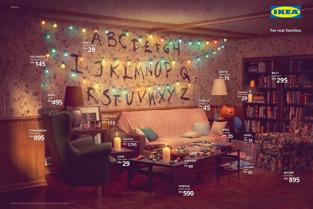 Le salon de la série Stranger Things recréé par IKEA